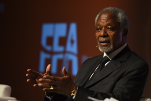 Kofi Annan, Founder and President of the Kofi Annan Foundation, was one of the speakers of the FFA last year 2017